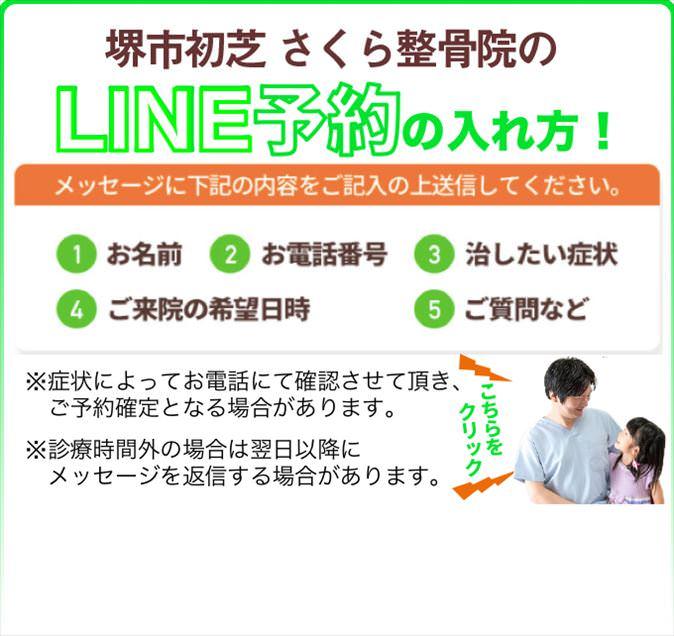 堺市初芝さくら整骨院のLINE予約の入れ方